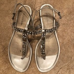 Silver jewel sparkle sandals
